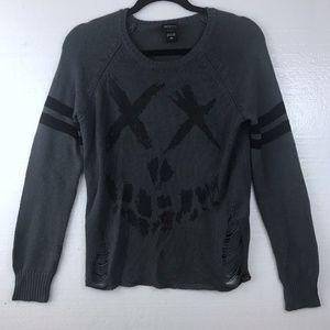 Suicide Squad Sz M Logo Ripped DC Comics Sweater